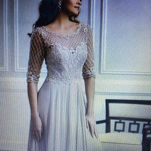 Christina Wu beaded & sequin chiffon gown